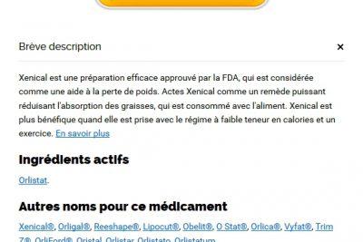 Acheter Medicament Xenical 120 mg En Ligne France – prix le plus bas