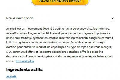 Pharmacie Approuvé | Acheter Avana 50 mg En Ligne Canada | Livraison dans le monde (1-3 Jours)