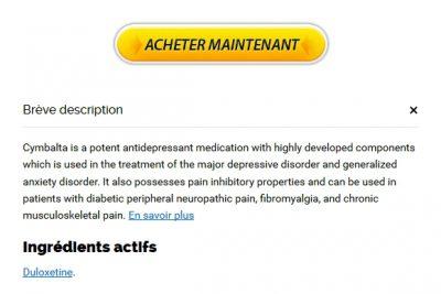 Acheter Du Cymbalta En Pharmacie