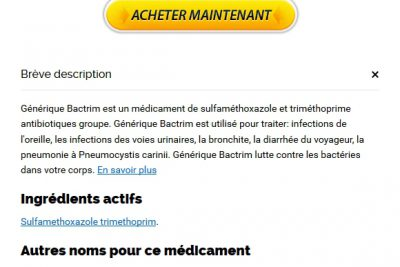 Bactrim Comprimé | Sécurisée et anonyme | BTC accepté