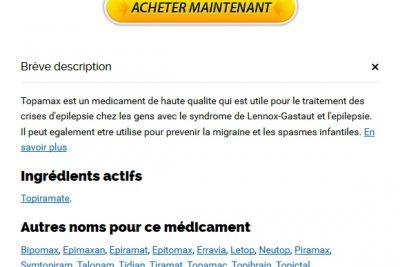 Achat De Medicament Topamax En Ligne Au Canada * prix Topiramate par comprimé